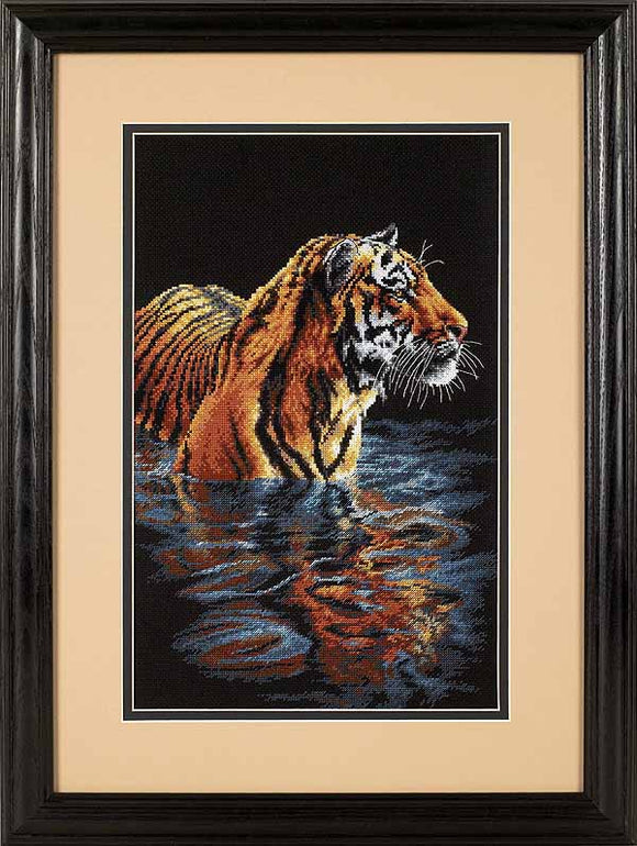 Tiger Chilling Out Cross Stitch Kit by Dimensions
