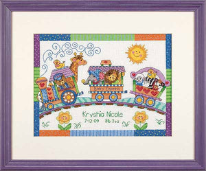 Baby Express Birth Sampler Cross Stitch Kit by Dimensions