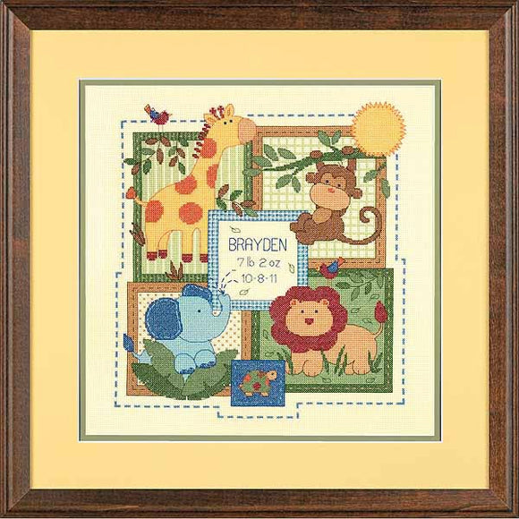 Savannah Birth Sampler Cross Stitch Kit by Dimensions