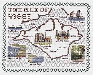 Isle of Wight Map Cross Stitch Kit by Classic Embroidery