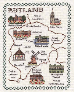Rutland Map Cross Stitch Kit by Classic Embroidery