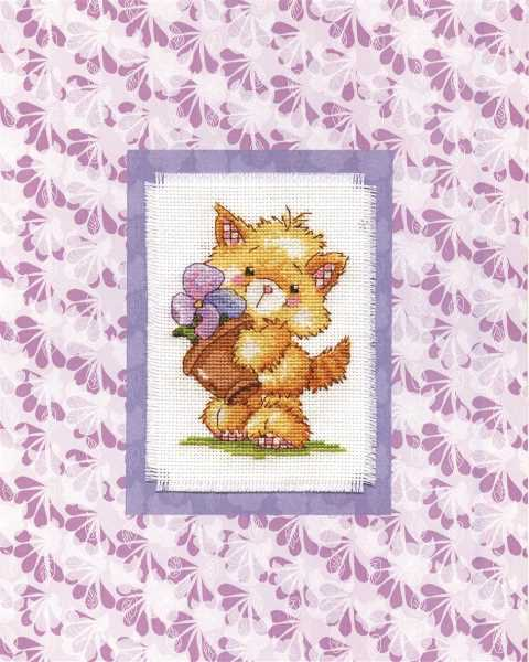 Cat Cross Stitch Kit by Design Works