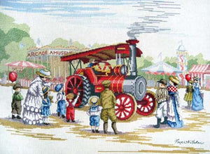 Steam Engine All Our Yesterdays Cross Stitch Kit by Faye Whittaker