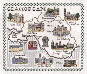 Glamorgan Map Cross Stitch Kit by Classic Embroidery