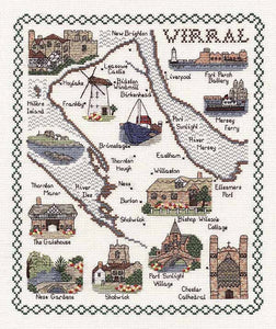 Wirral Map Cross Stitch Kit by Classic Embroidery