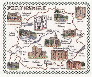 Perthshire Map Cross Stitch Kit by Classic Embroidery