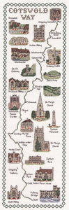 The Cotswold Way Map Cross Stitch Kit by Classic Embroidery