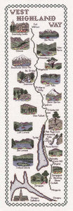 West Highland Way Map Cross Stitch Kit by Classic Embroidery