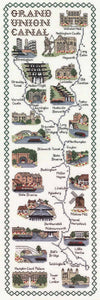 Grand Union Canal Map Cross Stitch Kit by Classic Embroidery