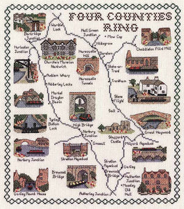 Four Counties Ring Map Cross Stitch Kit by Classic Embroidery