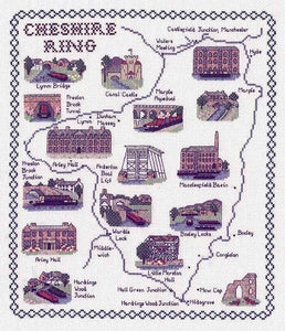 Cheshire Ring Map Cross Stitch Kit by Classic Embroidery