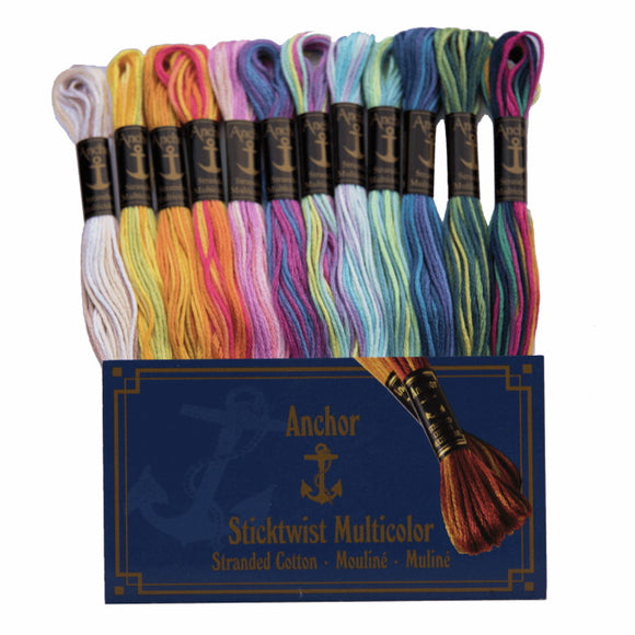 Multi Colour Stranded Cotton Pack by Anchor