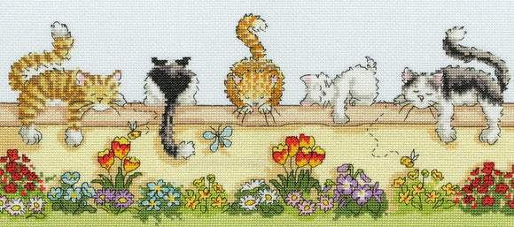 Lazy Cats Cross Stitch Kit By Bothy Threads