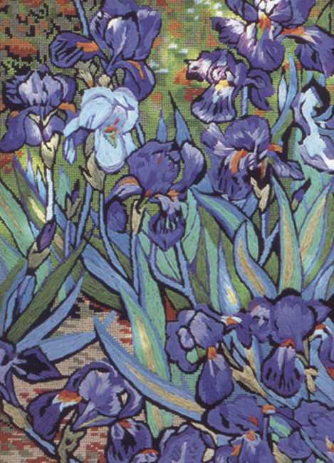 Irises Needlepoint Kit by Glorafilia