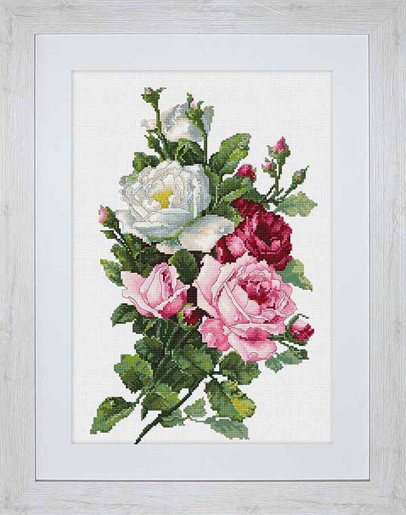 Bouquet of Roses Cross Stitch Kit by Luca S
