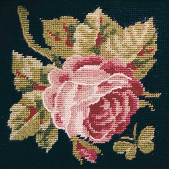Rose Needlepoint Kit by Glorafilia