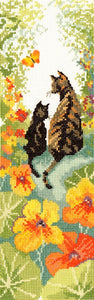 Follow Me 1 Cat Cross Stitch Kit By Bothy Threads
