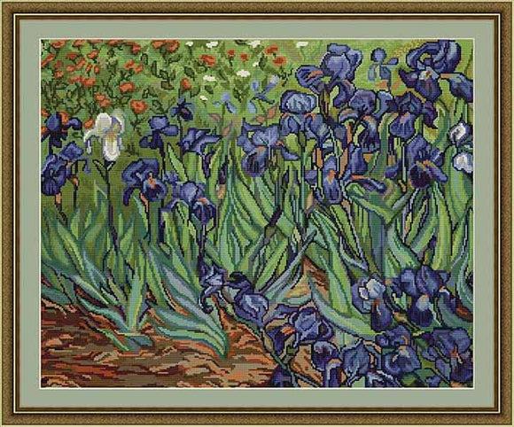 Van Gogh Irises Cross Stitch Kit by Luca S