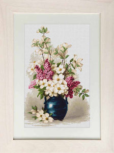 Lilac and Jasmine Cross Stitch Kit by Luca S