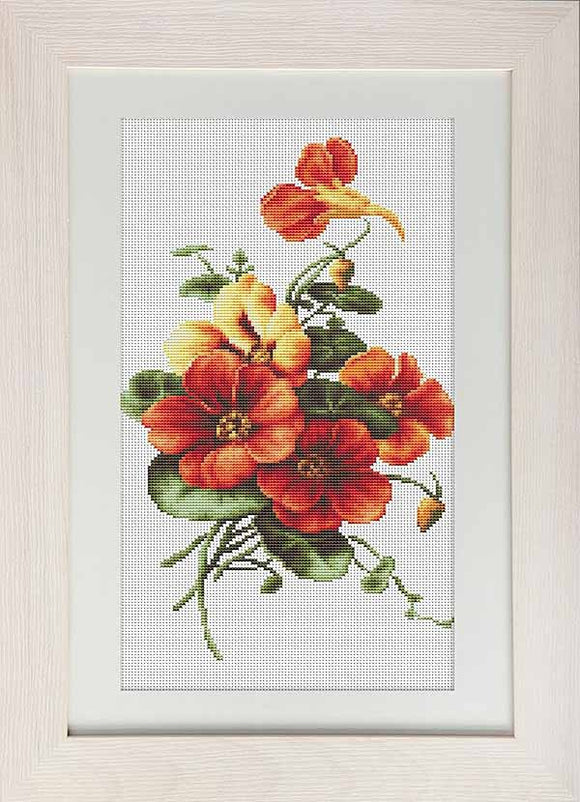 Wild Pansies Cross Stitch Kit by Luca S