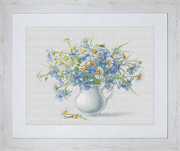 Cornflowers and Camomiles Cross Stitch Kit by Luca S