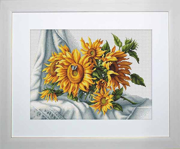 Sunflowers Cross Stitch Kit by Luca S