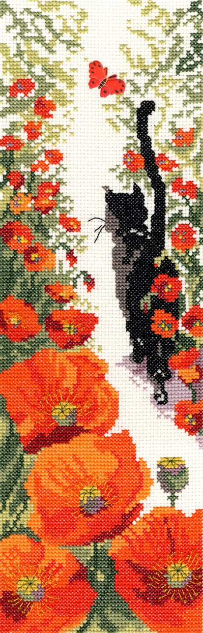 Follow Me 3 Cat Cross Stitch Kit By Bothy Threads