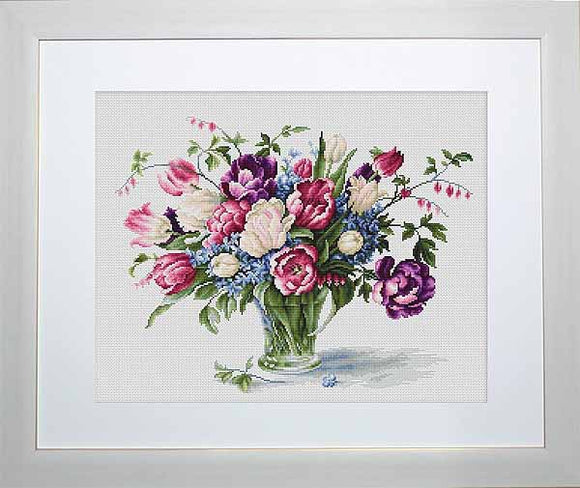 Tulips Cross Stitch Kit by Luca S
