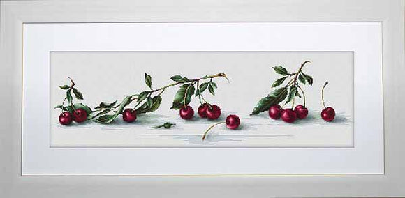 Cherries Cross Stitch Kit by Luca S