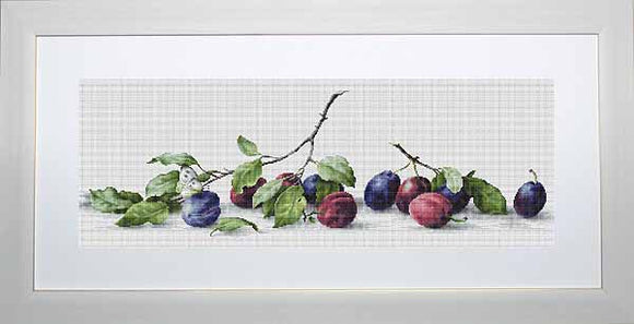 Plums Cross Stitch Kit by Luca S