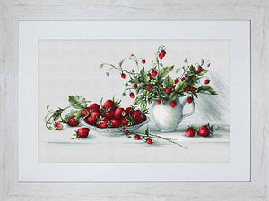 Strawberries Cross Stitch Kit by Luca S