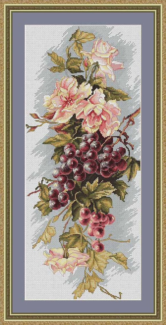 Grapes Cross Stitch Kit by Luca S