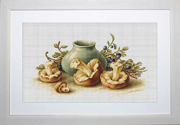 Mushrooms Cross Stitch Kit by Luca S