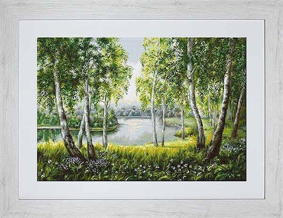 Native Birches Cross Stitch Kit by Luca S