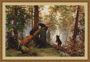 Morning in the Pine Forest Cross Stitch Kit by Luca S