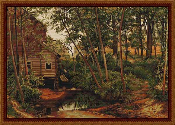 Cabin in the Woods Cross Stitch Kit by Luca S