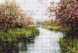 Spring Landscape Cross Stitch Kit by Luca S