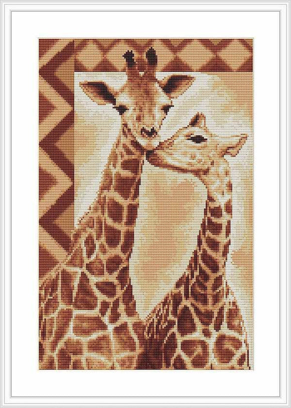 Giraffes Cross Stitch Kit by Luca S