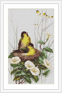 Birds in the Nest Cross Stitch Kit by Luca S