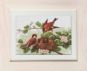 New Chicks in Nest Cross Stitch Kit by Luca S