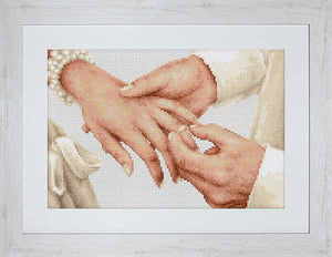 Forever Wedding Ring Cross Stitch Kit by Luca S
