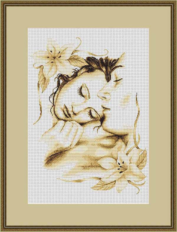 Couple in Love Cross Stitch Kit by Luca S