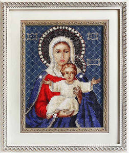 Leushinskaya Mother of God Cross Stitch Kit by Luca S