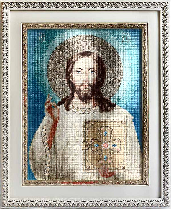 Jesus Christ Cross Stitch Kit by Luca S
