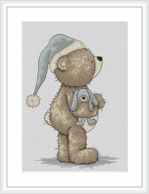 Time for Bed Bruno Cross Stitch Kit By Luca S