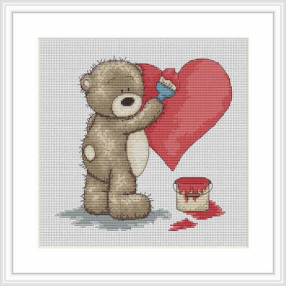 Valentine for Bianca Cross Stitch Kit By Luca S