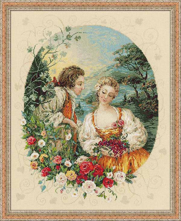 Pastoral Cross Stitch Kit By RIOLIS