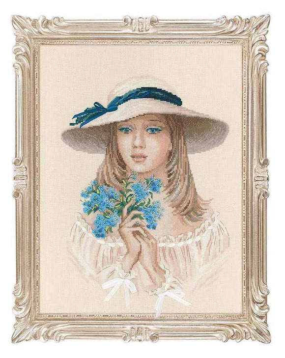 Forget Me Not Cross Stitch Kit By RIOLIS