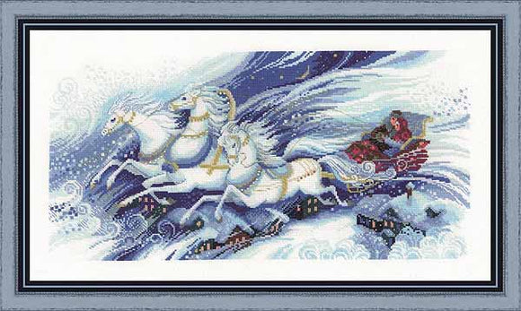 Magical Sleigh Ride Cross Stitch Kit By RIOLIS