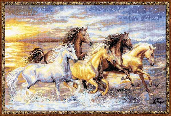 In the Sunset Cross Stitch Kit By RIOLIS